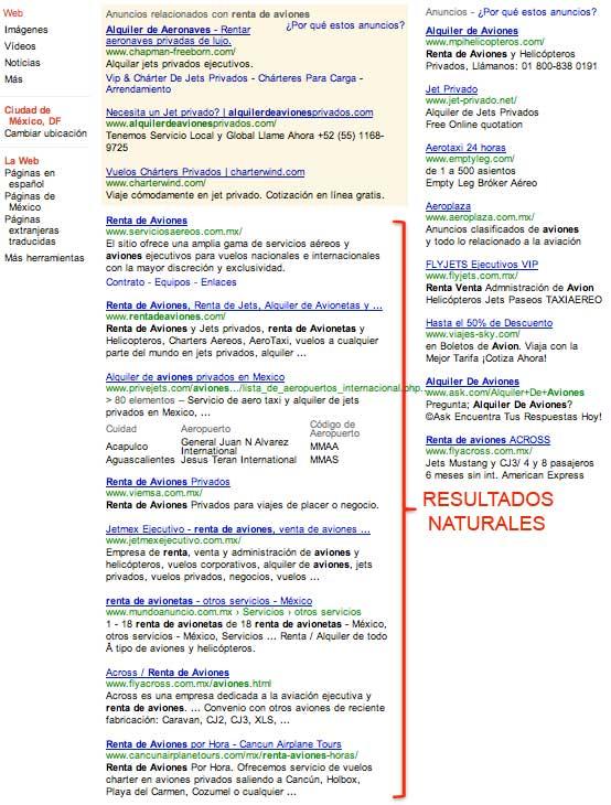 posicionamiento web natural u orgánico - seo