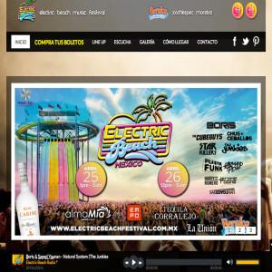 Diseño de páginas web en México D.F. Electric Beach