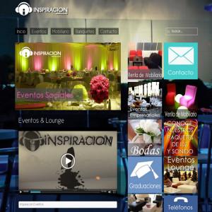 Diseño de páginas web en México D.F. - Inspiración Eventos