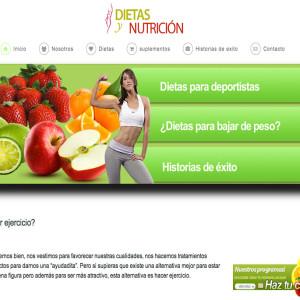 Diseño de página web para Cómo Bajar de Peso