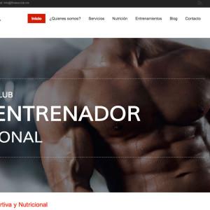 Diseño de página web - The Fitness Club