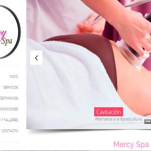 diseño de páginas web mercy spa