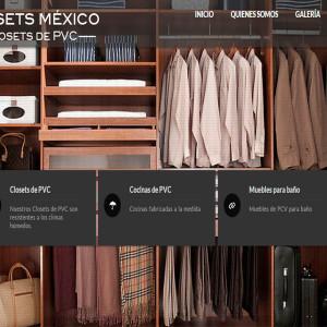 diseño de páginas web closets de pvc