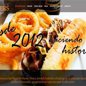 diseño de páginas web el grandpa and son burgers