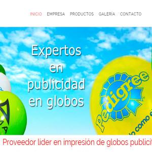 diseño de página web globos publicitarios